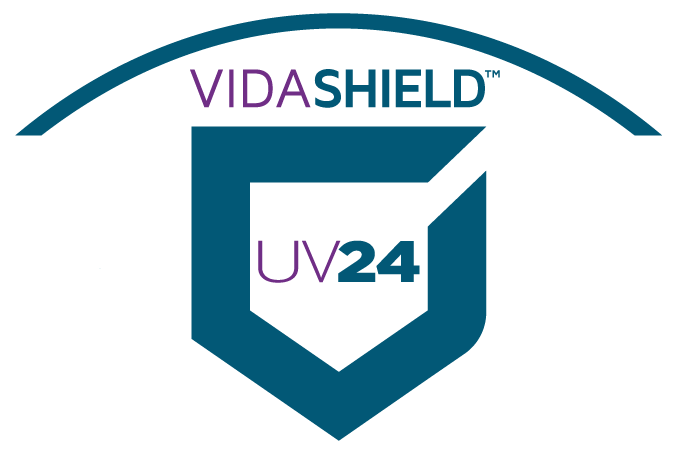 VidaShield is an engineering controlled device. The 253.7 nanometer UVC continuously cleans the air achieving a 100% kill rate on Coronaviruses, MRSA, C-DIFF, influenza and more.